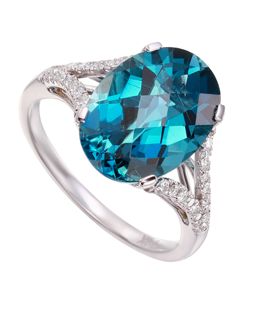 Oval Blue Topaz Ring SOLD