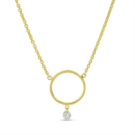 Dashing Diamond Circle Necklace