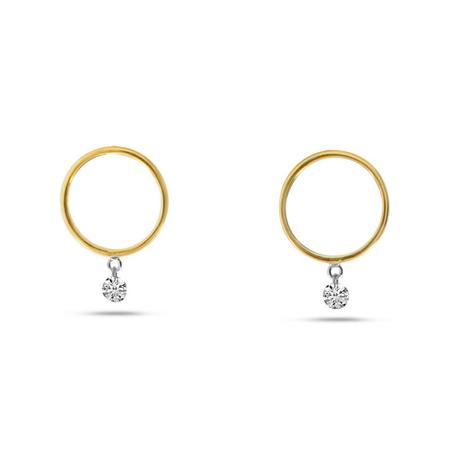 Dashing Diamonds Front Hoops Earrings
