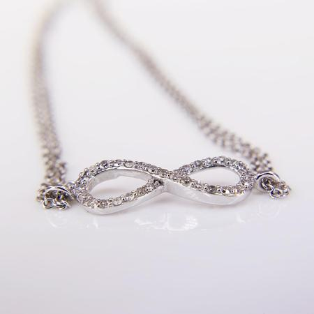 White Gold Diamond Infinity Bracelet