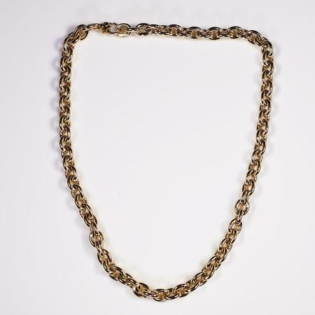 Yellow Gold Heavy Cable Link Necklace