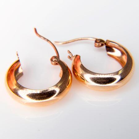Rose Gold Hoop Earrings SOLD
