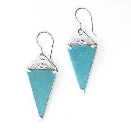 Bohemian Triangular Turquoise Earrings SPECIAL ORDER