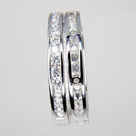 White Gold Inside-Outside Diamond Hoop Earrings