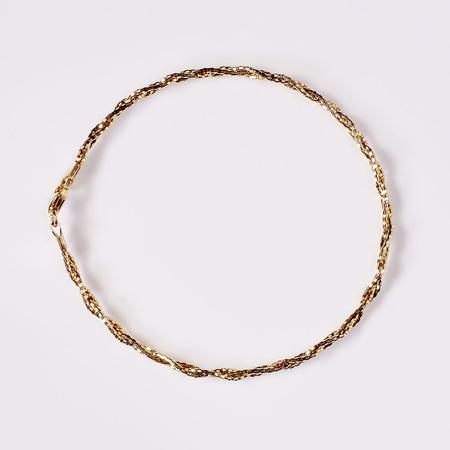 Yellow Gold Diamond Cut Braided Bracelet