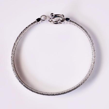 White Gold Flexible Bangle Bracelet