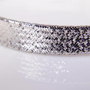 White Gold Flexible Bangle Bracelet  SOLD