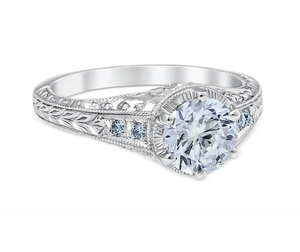 White Gold Heart of the Vineyard Engagement Ring