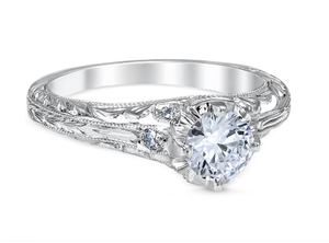 White Gold Novara Engagement Ring