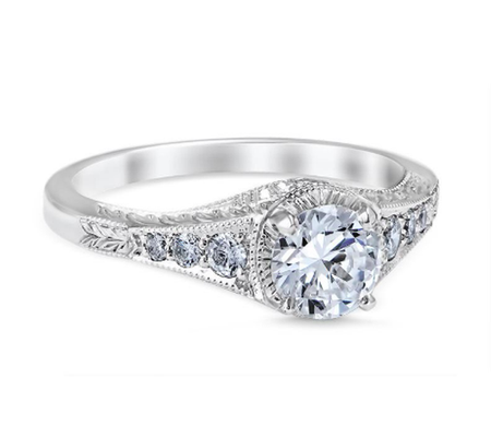 White Gold Palisades Engagement Ring