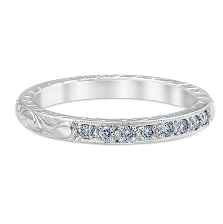 White Gold Alice Wedding Band