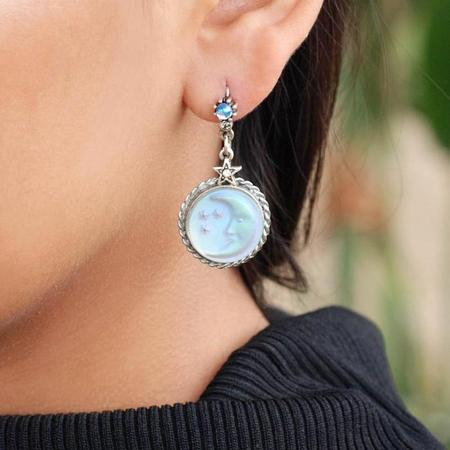 Iridescent Moon Earrings