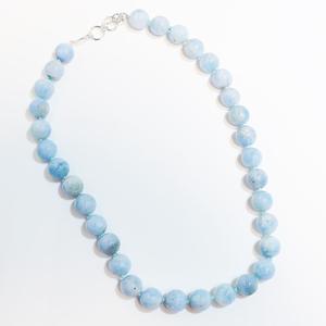 Aquamarine Bead Necklace