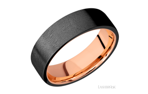 Zirconium Wedding Band 14KRSLEEVEZ7FR