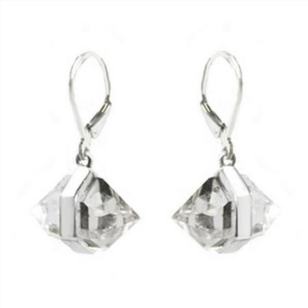 Large Herkimer Diamond Dangle Earrings