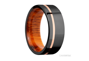 Zirconium Wedding Band HWSLEEVEZ8F11OC/14KR