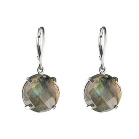 White Gold Pave Diamond Hoop Earrings