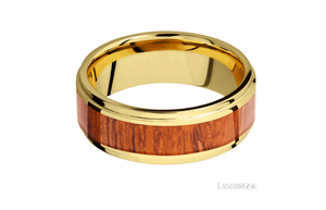 Yellow Gold Wedding Band 14KY8FGE15