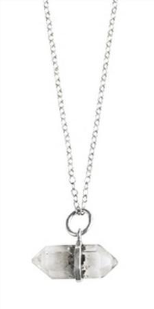 Long Herkimer Diamond Necklace