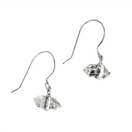 Small Herkimer Diamond Dangle Earrings
