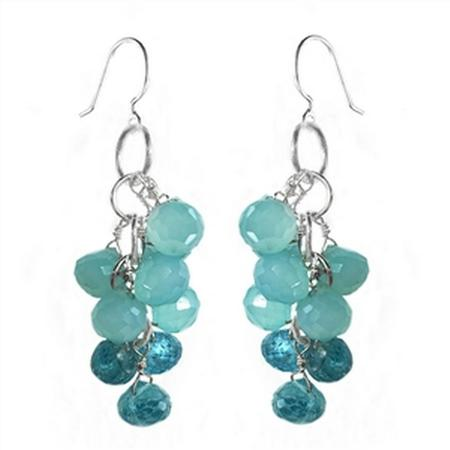 Sterling Silver Peruvian Chalcedony Harvest Earrings