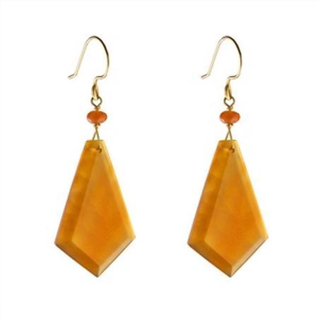 Gold Filled Carnelian Dangle Earrings