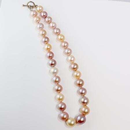 Pastel Edison-type Freshwater Pearl Necklace