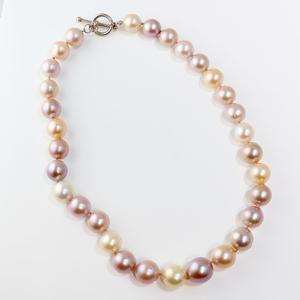 Pastel Edison-type Freshwater Pearl Necklace