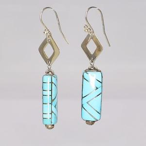 Sterling Silver Turquoise Dangle Earrings  SOLD