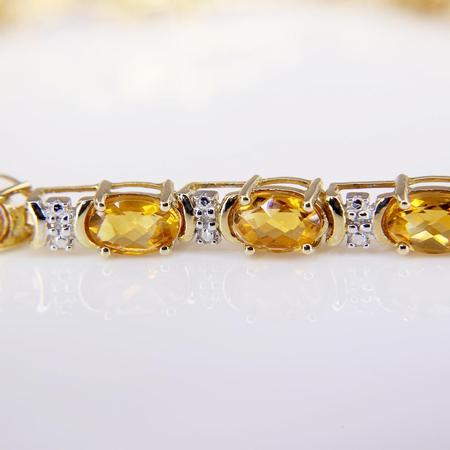 Yellow Gold Citrine Bracelet