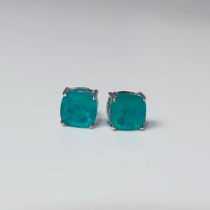Sterling Silver Quartz Stud Earrings