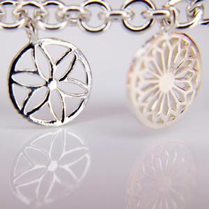 Sterling Silver Southern Gates Charm Bracelet