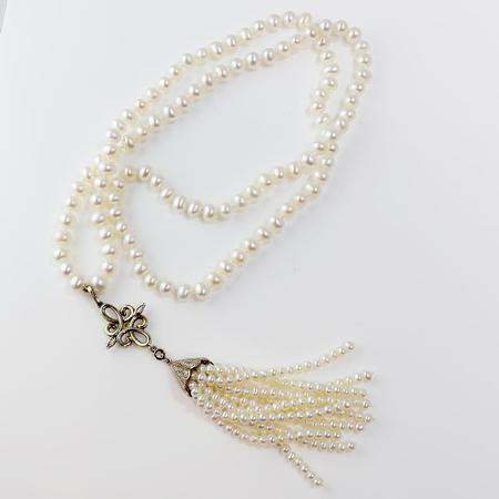Freshwater Pearl Tassle Necklace