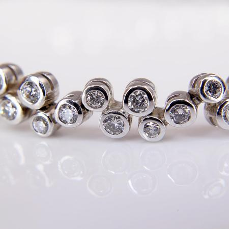 White Gold Diamond Bubble Bracelet