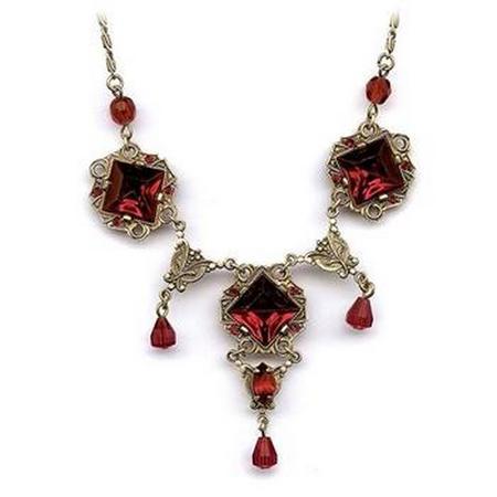 Vintage Glass Squares Necklace