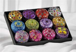 Small Round Glitter Box
