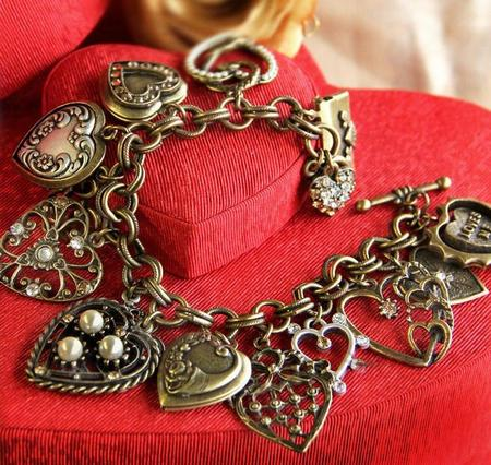 Heart Charm & Locket Bracelet