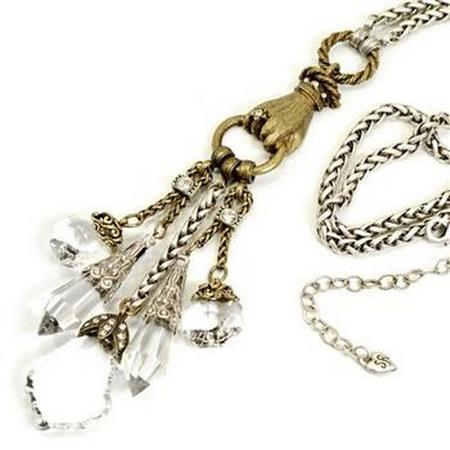 Crystal Elements Dangle Necklace