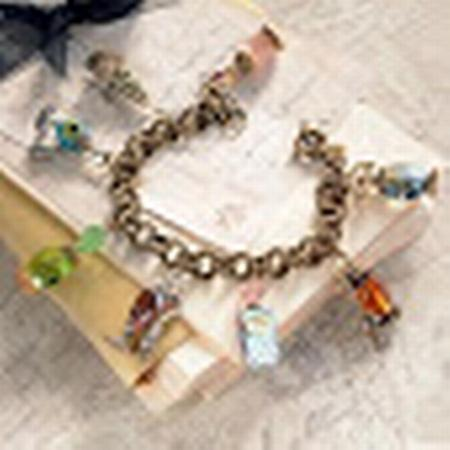 Perfume Bottle Charm Bracelet