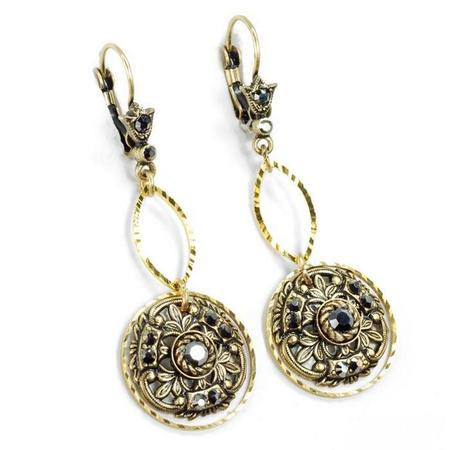 Window to the Soul Vintage Medallion Earrings