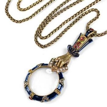 Renaissance Enamel Magnifying Glass Necklace