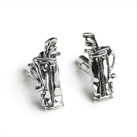 Sterling Silver Golf Clubs & Bag Cufflinks