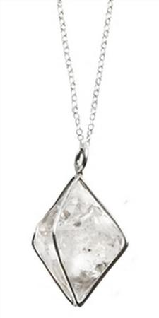Sterling Silver Herkimer Large Diamond 20