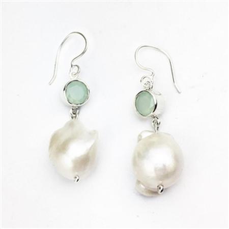 Baroque Pearl Dangle Earrings
