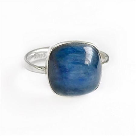 Sterling Silver Kyanite Soft Cushion Ring
