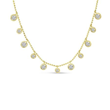 Cleopatra Bezel-Set Dashing Diamond Necklace