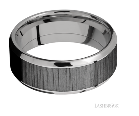 Titanium Wedding Band PF81316/ZIRCO