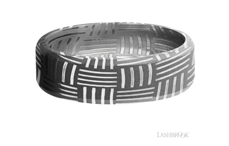 Damascus Wedding Band D7BBASKET