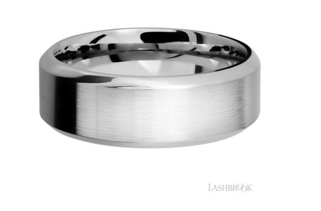 Cobalt Chrome Wedding Band CC8HB/LCV