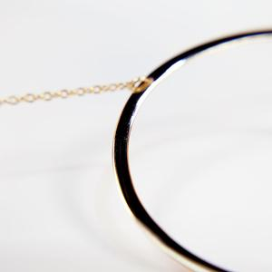 Yellow Gold Vermeil Circle Necklace